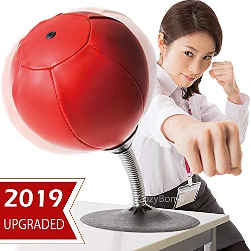 CozyBomB Freistehende Desktop-Boxsack - Stress Buster Relief mit Ständer - Boxing Punch Ball mit