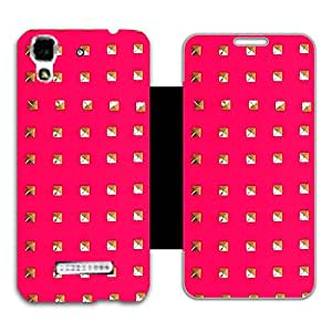 Phone Candy Designer Flip Cover with hi-res printed Vinyl sticker wrap-around for Micromax AQ5510