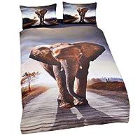 WFH Animal HD Print Heimtextilien 3D Bettwäsche Kit, 3 Stück Reversible Polyester Bettbezug Set Beinhaltet 1X Bettbezug - 2X Kissenbezug,Full203cmx228cm