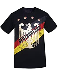 Deutschland Hombres de Alemania Foil Gold Printing Athletic Camisetas Vintage Look
