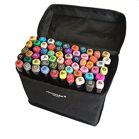 Authentic TouchNew 60 Farben Animation Design Marker Pens für Anfänger,