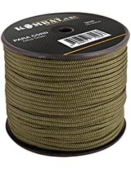 Kombat UK - Carrete Paracord, Unisex, Paracord, marrón, 100 m