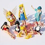 Yvonnezhang 1 Set Vendita al Dettaglio 7 pz / Set Anime Cartoon Sailor Moon Figura Action PVC Giocattoli di modellazione per i Bambini Regalo spedizione Gratuita