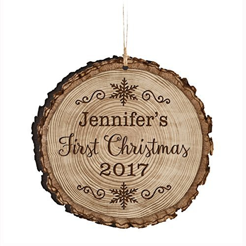bienternary Personalisierte Baby 's First Christmas Ornament 2017New Parent Geschenk Ideen für Neugeborene Jungen und Mädchen Individuelle Gravur Ornament für Mom Dad und Großeltern