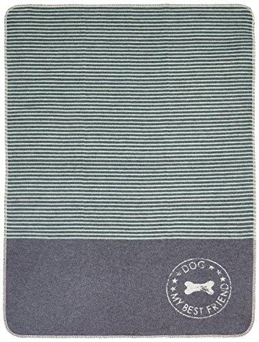 David Fussenegger Haustierdecke Dog - My Best Friend, 70x90 cm Baumwoll-Mischgewebe Filz/grün 90 x 70 x 90 cm, 2-Einheiten