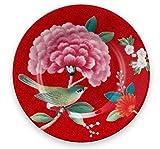 Pip Studio Teller Blushing Birds | rot - 12 cm