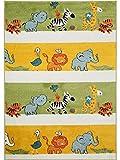 Benuta Kinderteppich Noa Africa Multicolor 120x170 cm | Teppich für Spiel- und Kinderzimmer