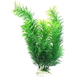 La Cabina Plantes Artificielles Vert Herbe Aquatiques en Plastique FishTank Aquarium Ornement Décor