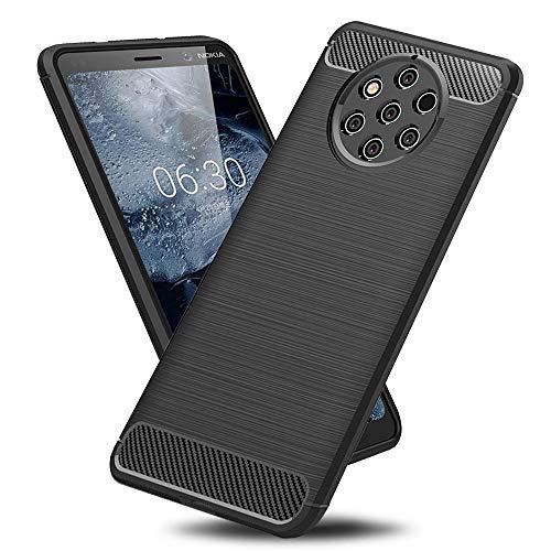 TopACE Cover per Nokia 9 PureView, Custodia Silicone TPU Morbida Ultra Slim Leggera Antiurto Antiscivolo AntiGraffio Anti Impronta Digitale Case Protettiva Posteriore per Nokia 9 PureView (Nero)