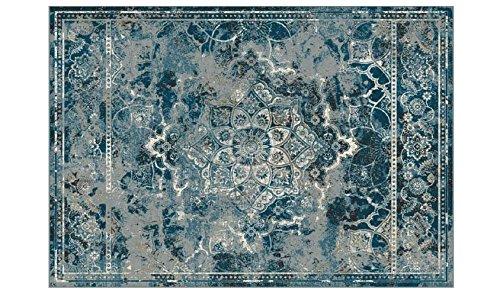 WEBTAPPETI Perserteppich Optik Stone Washed in Seide pflanzlichen Position OST Blau Sofia 9880514-4959 cm.160x230 Blau -