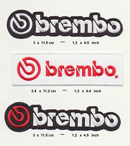 Racing Classics BREMBO Aufnäher Aufbügler Patch 3 Stück Bremsen Scheibenbremsen disc Brakes TURBOVERSAND -
