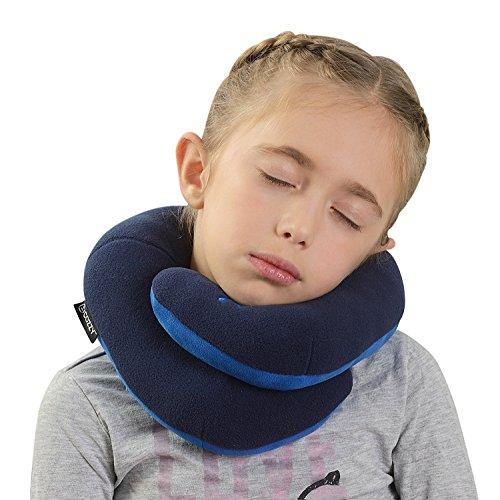 BCOZZY Kinnunterstützendes Nackenkissen– Unterstützt den Kopf, Nacken und das Kinn in maximalem Komfort in jeder Sitzposition. Ein patentiertes Produkt. (MARINE, KINDERGRÖSSE)