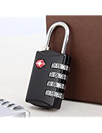 TSA Approved 4 Digit Luggage Lock Best For International Travelling Assorted