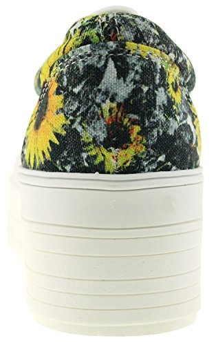 Maxstar C50, 5-Loch, Low-Top-Sneakers Freizeit Platform Boot Gogh-Yellow