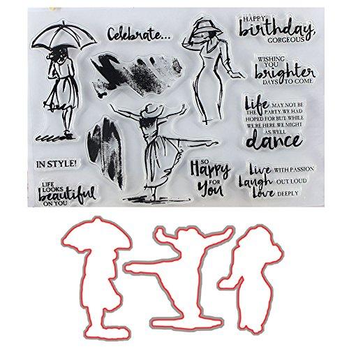 Cheerfulus Stanzschablonen und Stempel Scrapbooking Stanzmaschine Schablonen Stanzformen, Stanzmaschine Stanzschablone für DIY Scrapbooking Fotoalbum Dekor Karten(#11)
