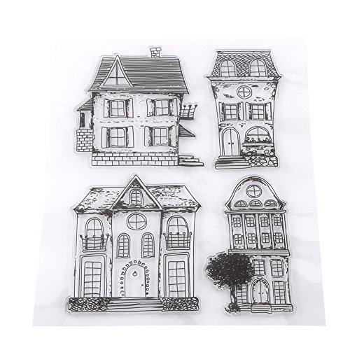 Sammelalbum Fotokarten Stempel Klare Transparente Briefmarken Haus DIY Scrapbooking /...