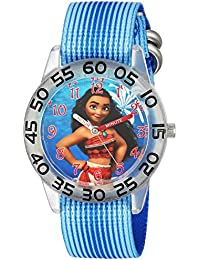 Disney Girl's 'Moana' Quartz Plastic and Nylon Casual Watch Color:Blue (Model: WDS000043)