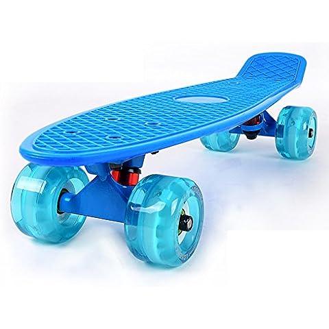 Pescado/Skate/Viajes adultos deportes Skate/Cepillo de entrenadores de patinaje de calle/Niños Flash grande redondo solo rocker/Banana-R