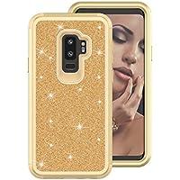 Shinyzone Samsung Galaxy S9 Plus Kratzfest Handyhülle,Glitzer Gold and Golden Silikon + Hart Zurück Hülle,360... preisvergleich bei billige-tabletten.eu