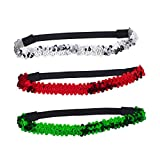 Best Lux Accessories Headbands - Lux Accessories Festive Holiday Christmas Red Green Silver Review