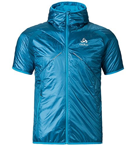 Odlo Herren Short Sleeve Hoody Primaloft Loftone Vest, Seaport, XL