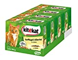 Kitekat Katzenfutter Geflügel-Allerlei in Gelee, 48 Beutel (4 x 12 x 100 g)