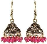 Subharpit Pink Metal Jhumki Earrings for...