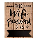 C&E Wifi Passwort Vintage Retro Schild, Modell The Wifi Password is, Material Holz, Maße 20x 16 cm, Helles Holz mit Tafelfeld, Ideal für Bar, Cafe, Teehaus, Cafeteria Oder Einfach Zuhause