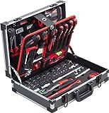 Meister Werkzeugkoffer 131-teilig - Stabiler Alu-Koffer - Werkzeug-Set - Für Haushalt, Garage & Werkstatt / Profi Werkzeugkoffer befüllt / Werkzeugkiste / Werkzeugbox komplett mit Werkzeug...
