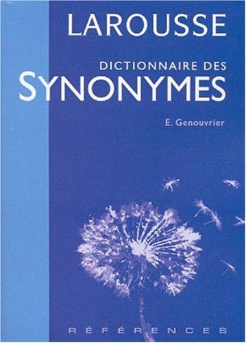 Dictionnaire DES Synonymes by Emile Genouvrier (2001-06-30) par Emile Genouvrier