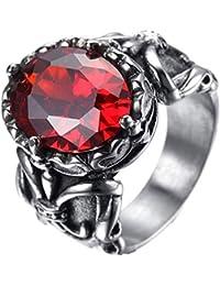 Alliance Ring Ring Rose Gold Edelstahl Schwarz Hochzeit Blume Lilie Templer-Real