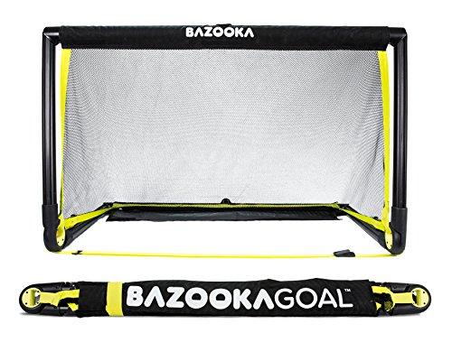 Bazookagoal Original Fußballtor Klappbar, Outdoor/Indoor-Set mit massivem Rahmen - Pop up Tor mit 1,20 x 0,75m
