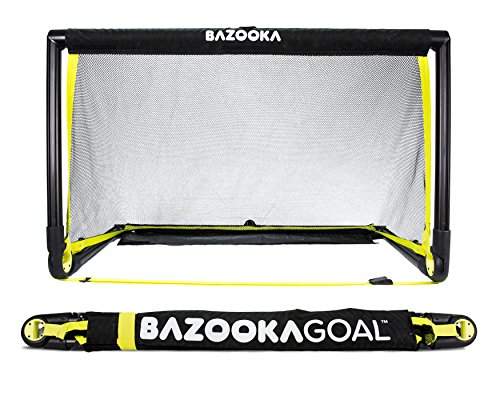 BazookaGoal Original-Fußballtor, Outdoor / Indoor-Set mit massivem Rahmen - Pop-up Aufklapptor mit 1,20 x 0,75 m -