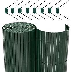 SONGMICS Estera Protectora de Intimidad Cañizo de PVC Doble Cara Para Jardín Balcón 90 x 500 cm GPF095L