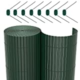 SONGMICS PVC Sichtschutzmatte Grün (90 x 500 cm) Sichtschutz für Garten Balkon und Terrasse GPF095L