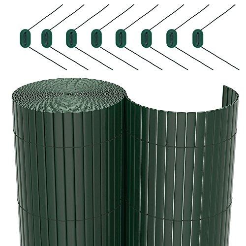 SONGMICS PVC Sichtschutzmatte Sichtschutzzaun für Garten Balkon und Terrasse 100 x 500 GPF105L (Garten Pflanzen Zaun)