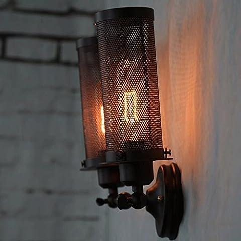 FHK,Wandleuchten Industrielle Wind retro Metallbolzen Verstellbare Wandleuchte American Bar Cafe Licht Dekorative Wandleuchten
