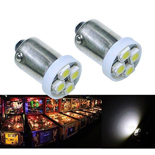 PA 10pcs # 1893# 44# 47# 756# 1847BA9S 4smd LED WEDGE ampoule lampe Flipper White-6.3V par PA LED