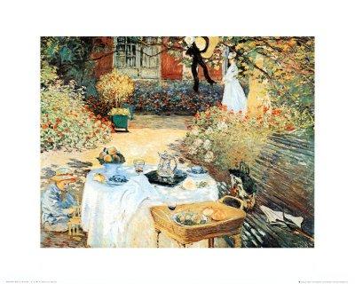 Lámina 'Le Dejeuner', de Claude Monet, Tamaño: 40 x 50 cm