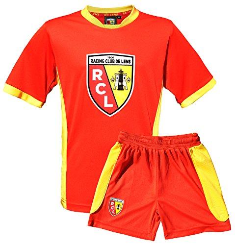 Maillot + short Racing Club de Lens - Collection officielle RCL - Ligue 1 - Taille enfant garçon 14 ans