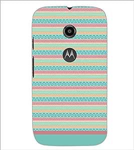 PrintDhaba Tribal pattern D-1794 Back Case Cover for MOTOROLA MOTO E2 (Multi-Coloured)