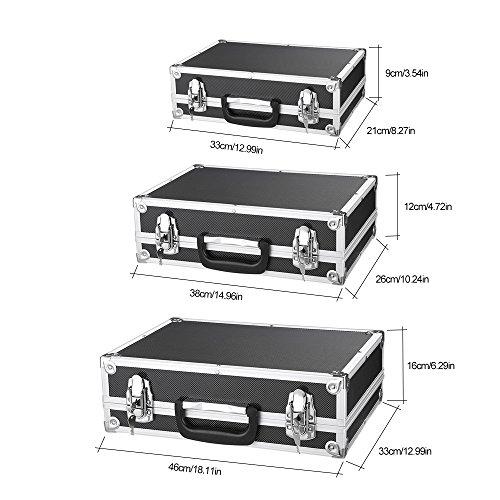 iKayaa 3er Set Transportkoffer Werkzeugkoffer mit Aluminiumrahmen und ABS - 2