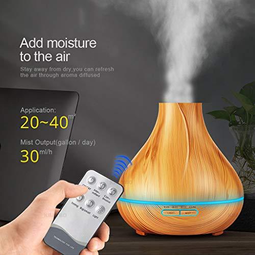 Aroma Difusor,STRIR 400ml humidificador ultrasónico aromaterapia Bebes, Silencioso Difusor de Aceites Esenciales, 7-Color LED, 4 Ajustes de Tiempo, Auto-Apaga, para Yoga, Aromaterapia, Hogar (Caqui)