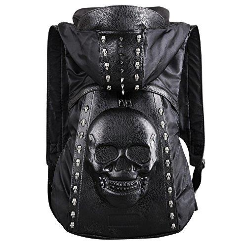 lichkeit Kleidung Hut Twill Liu Ding Umhängetasche Spuk Kopf 3D Stereo Mann Rucksack Halloween Rucksack Das beste Geschenk, A ()