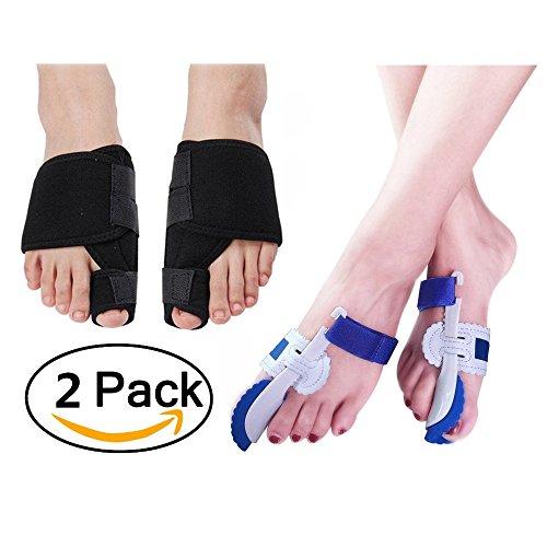 2paia per dita (trattamento notte set), correzione pads con correzione brace e cipolla tutore per alluce valgo sollievo del dolore