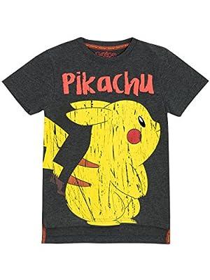 Pokemon - Camiseta para niño Pikachu - 6 a 7 Años