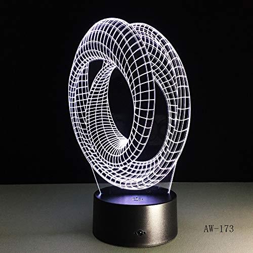 3D Abstrakte Grafik Nachtlampe 7 Bunte Touch Ändern Acryl Licht Tischlampe Nacht Dekorative Lava Lampe Für Kinder With remote control - Stehlampe, Lava-lampe