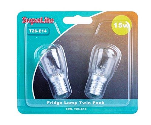 Preisvergleich Produktbild JDS HarDWARE Kühlschrank-Lampen,  15 W,  T26-E14,  2 Stück