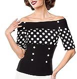 Jersey-Bluse mit dekorativen Stoffknöpfen XL