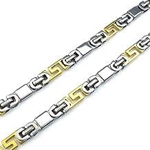 AnaZoz Joyería de Moda Collar de Hombre Acero Inoxidable Cadenas Collar Para Hombre Heavy Wide Biker Links Oro Plata Personalidad Simple